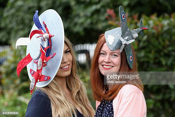 Racegoers on the fourth day of Royal Ascot at Ascot Racecourse on June 17 2016 in Ascot England