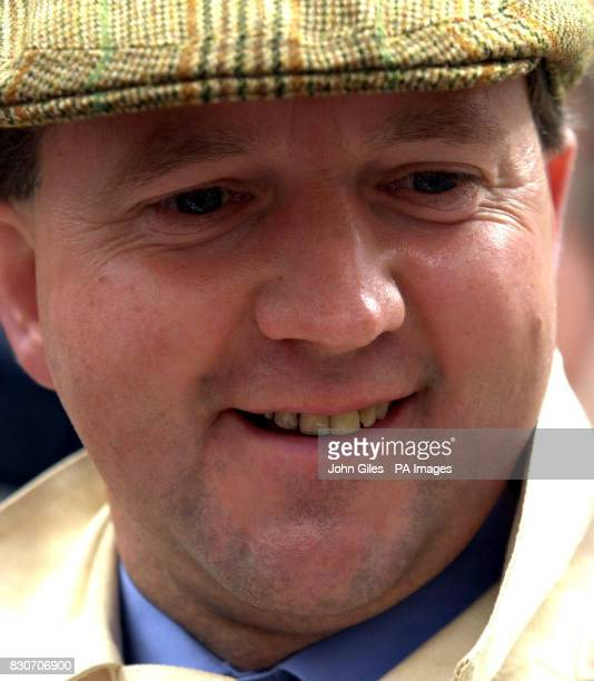 Racehorse Trainer Tim Easterby who celebrated his 40th birthday with a winner Bollin Eric and jockey Robert Winston won the Ralph Raper Prince of...