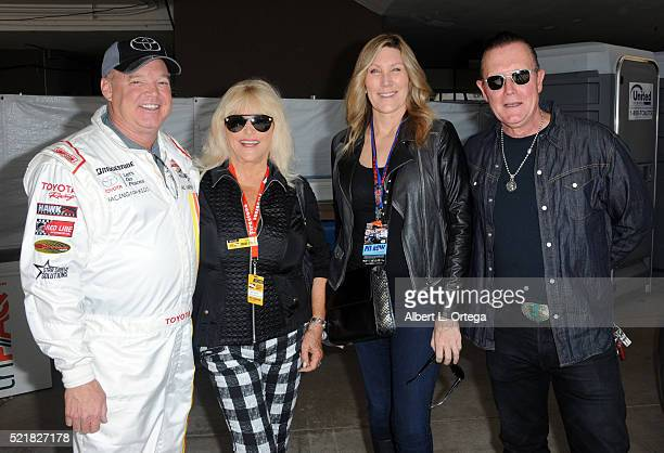 Racer Al Unser Jr and actor Robert Patrick at the 42nd Toyota Pro/Celebrity Race Race Day to Benefit 'Racing For Kids' held on April 15 2016 in Long...