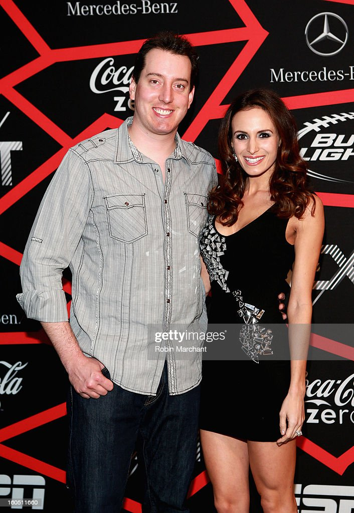 NASCAR racer Kyle Busch (L) attends ESPN The Magazine's 'NEXT' Event at Tad Gormley Stadium on February 1, 2013 in New Orleans, Louisiana.