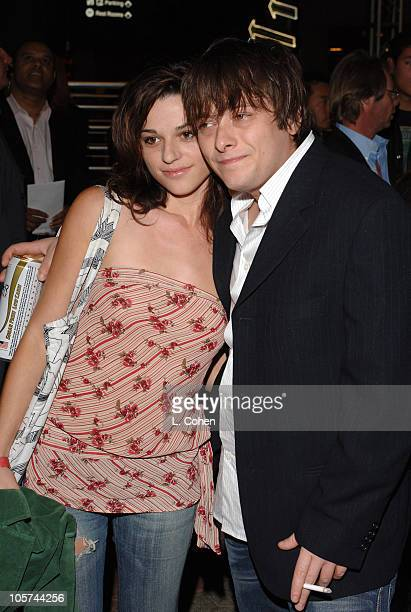 Rachael Bella and Edward Furlong during 'Cruel World' Premiere at ScreamFest Arrivals at Lowes Univresal Studios Cinemas in Universal City California...