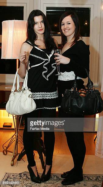 Rachael Fenech left and Lauren Powell at the Stella McCartney perfume launch at The Corner Shop Strand Arcade Sydney 16 October 2006 SHD Picture by...