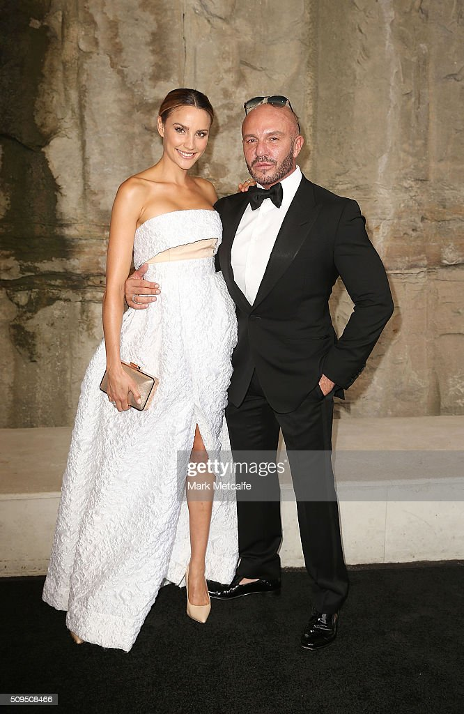 Rachael Finch and Alex Perry arrive ahead of the Myer AW16 Fashion Launch on February 11, 2016 in Sydney, Australia.