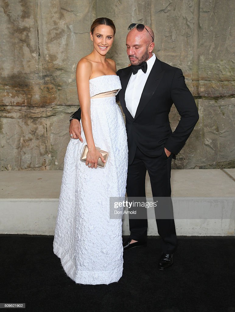 <a gi-track='captionPersonalityLinkClicked' href=/galleries/search?phrase=Rachael+Finch&family=editorial&specificpeople=5521670 ng-click='$event.stopPropagation()'>Rachael Finch</a> and Alex Perry arrive ahead of the Myer AW16 Fashion Launch at Barangaroo Reserve on February 11, 2016 in Sydney, Australia.
