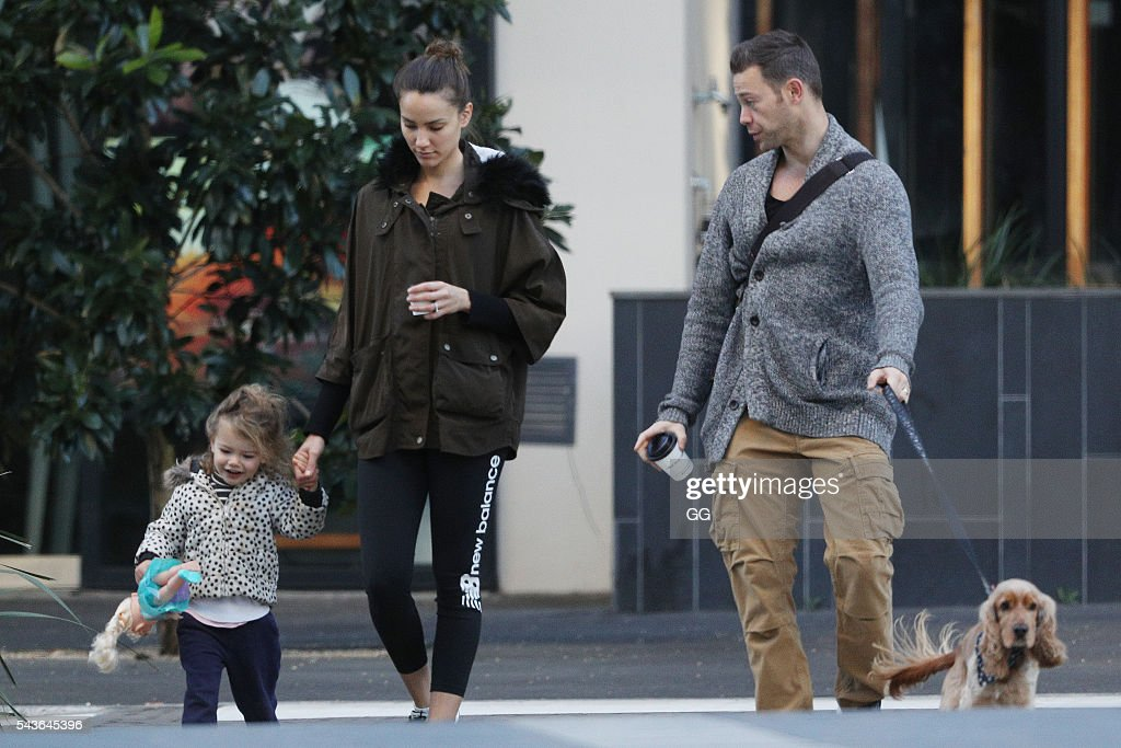 <a gi-track='captionPersonalityLinkClicked' href=/galleries/search?phrase=Rachael+Finch&family=editorial&specificpeople=5521670 ng-click='$event.stopPropagation()'>Rachael Finch</a> and her husband Michael Mizine are seen with their daughter Violet on June 28, 2016 in Sydney, Australia.