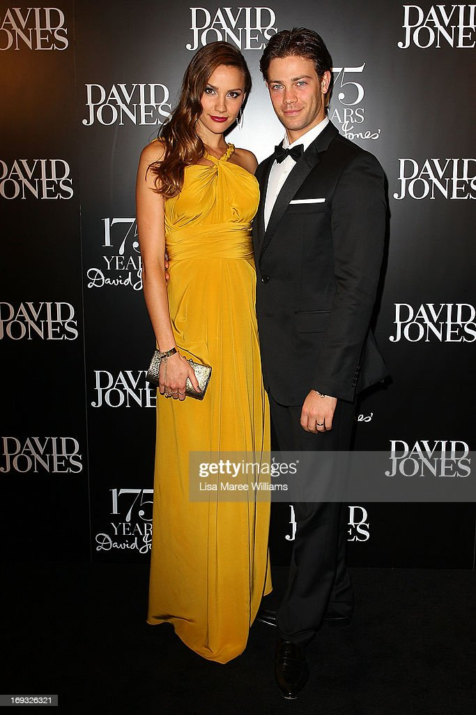 <a gi-track='captionPersonalityLinkClicked' href=/galleries/search?phrase=Rachael+Finch&family=editorial&specificpeople=5521670 ng-click='$event.stopPropagation()'>Rachael Finch</a> and Michael Miziner attend the David Jones 175 year celebration at David Jones on May 23, 2013 in Sydney, Australia.