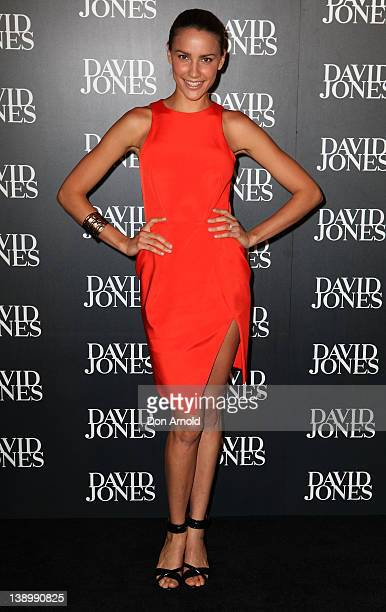 Rachael Finch arrives at the David Jones Autumn/Winter 2012 season launch at the David Jones Elizabeth Street Store on February 15 2012 in Sydney...