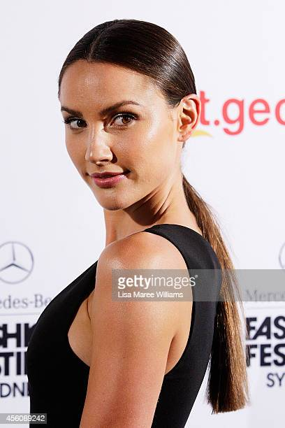 Rachael Finch arrives for the Camilla and Marc St George show during MercedesBenz Fashion Festival Sydney at Sydney Town Hall on September 25 2014 in...