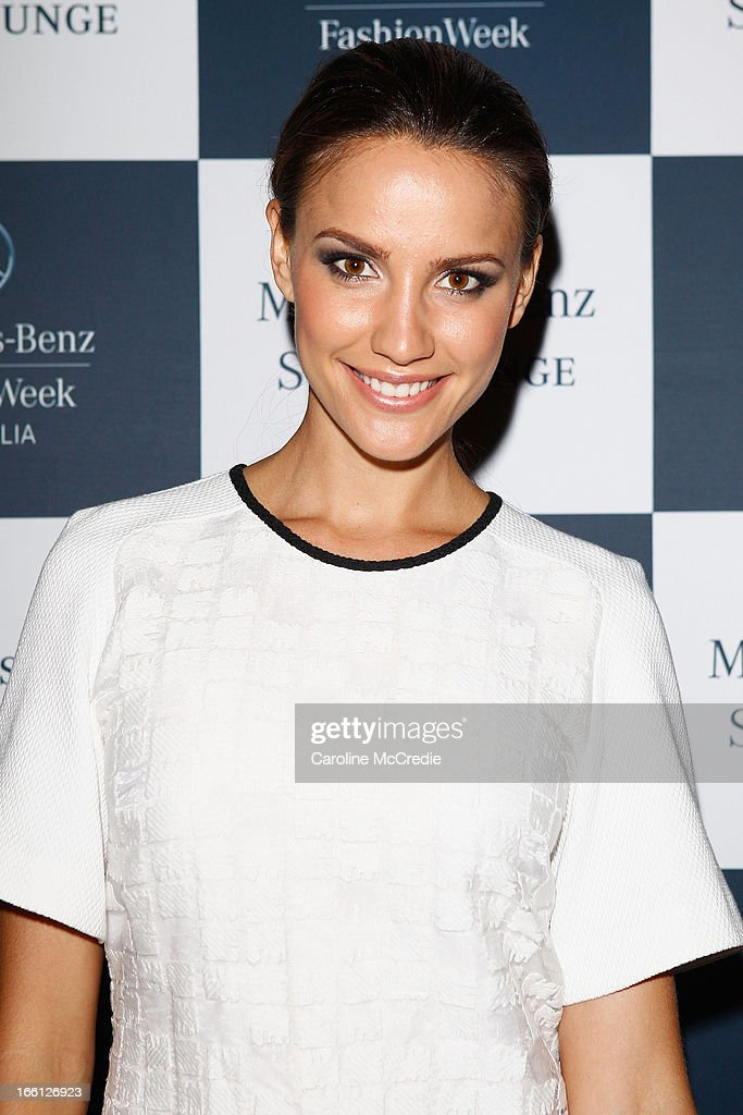 Rachael Finch attends the Mercedes-Benz Star Lounge during Mercedes-Benz Fashion Week Australia Spring/Summer 2013/14 at Carriageworks on April 9, 2013 in Sydney, Australia.