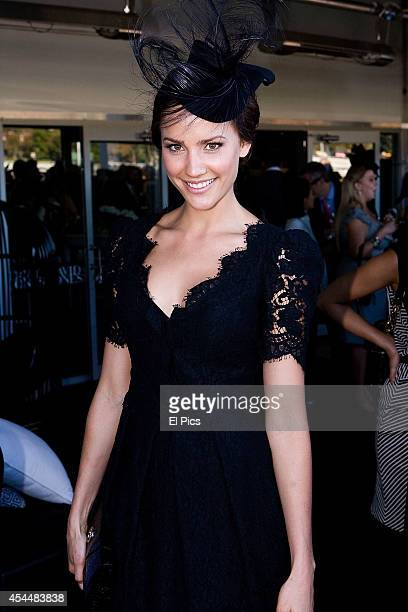 Rachael Finch attends the VIP tent at the Autumn race carnival at Randwick Racecourse on April 9th 2011 in Sydney Australia