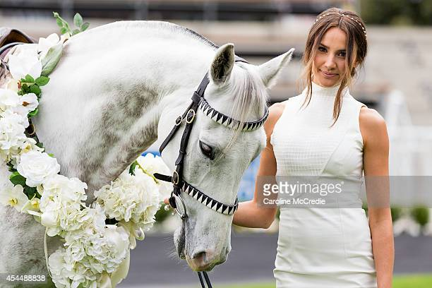 Rachael Finch poses at the launch of the 2014 Sydney Spring Carnival at Royal Randwick Racecourse on September 2 2014 in Sydney Australia