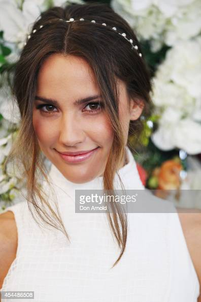 Rachael Finch poses at the launch the 2014 Sydney Spring Carnival at Royal Randwick Racecourse on September 2 2014 in Sydney Australia