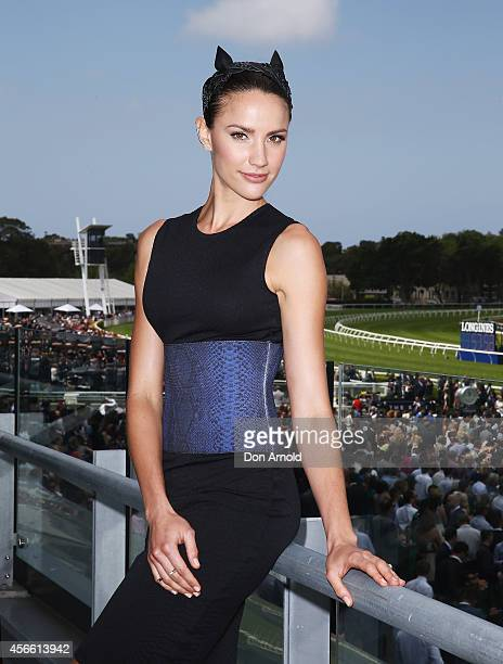 Rachael Finch poses at The Star Epsom Day at Royal Randwick Racecourse on October 4 2014 in Sydney Australia
