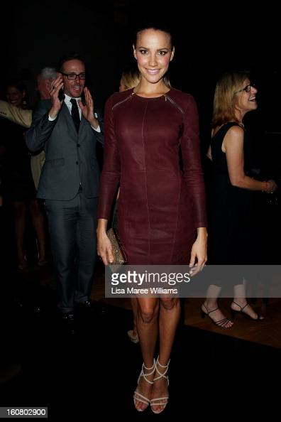 Rachael Finch poses during post show drinks at the David Jones A/W 2013 Season Launch at David Jones Castlereagh Street on February 6 2013 in Sydney...