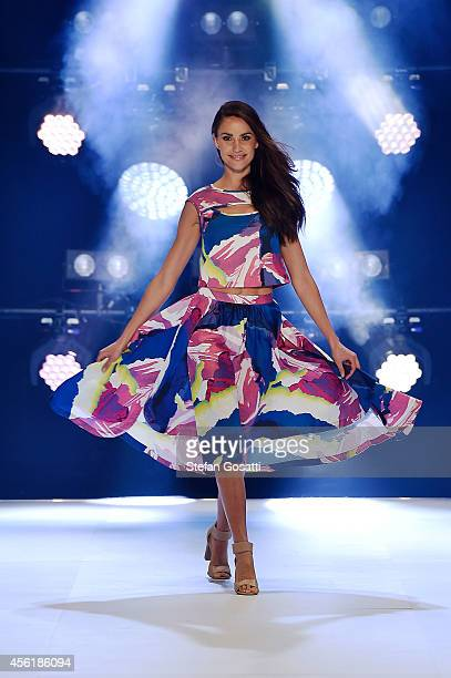 Rachael Finch walks the runway at the Target show during MercedesBenz Fashion Festival Sydney at Sydney Town Hall on September 27 2014 in Sydney...