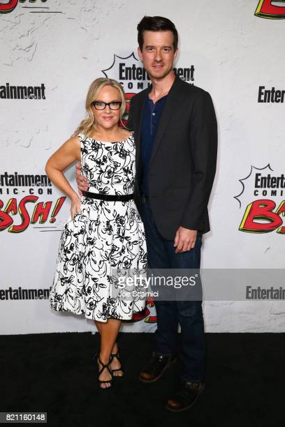 Rachael Harris and Christian Hebel at Entertainment Weekly's annual ComicCon party in celebration of ComicCon 2017 at Float at Hard Rock Hotel San...