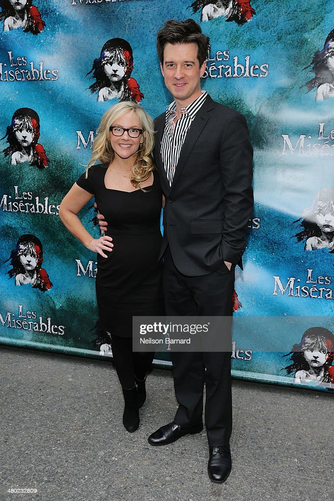 Rachael Harris and Christian Hebel attend the opening night of Cameron Mackintosh's new production of Boublil and Schonberg's 'Les Miserables' on Broadway at The Imperial Theatre on March 23, 2014 in New York City.