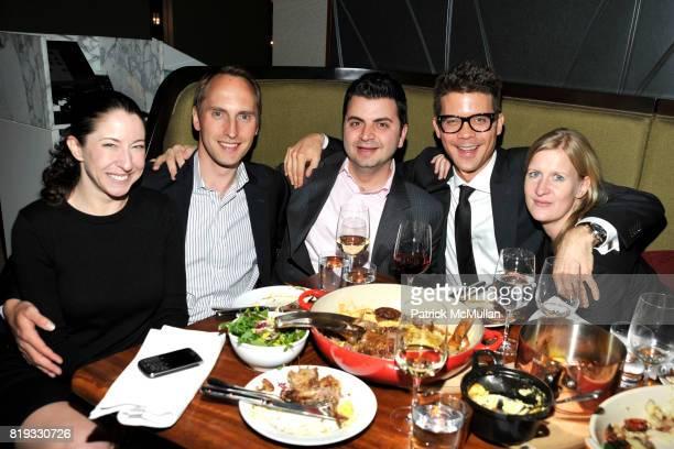 Rachael Harrison Tony Hinterstoisser Adi Sidhwa Jonathan Frolich and Corinna Bonn attend 'WATER WALL' Restaurant Hosts Tribeca Film Festival...