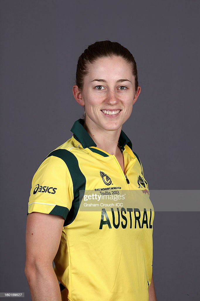 Rachael Haynes of Australia attends a portrait session ahead of the ICC Womens World Cup 2013 at the Taj Mahal Palace Hotel on January 27, 2013 in Mumbai, India.