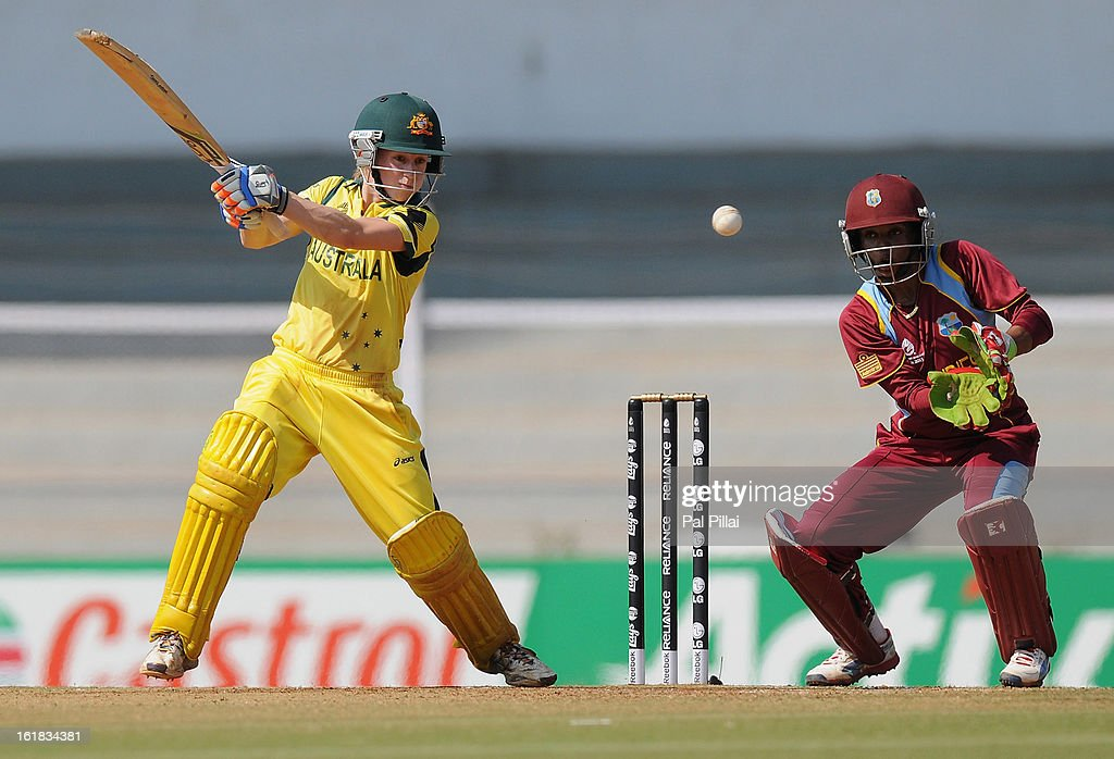 Rachael Haynes of Australia bats during the final between Australia and West Indies held at the CCI (Cricket Club of India) stadium on February 17, 2013 in Mumbai, India.