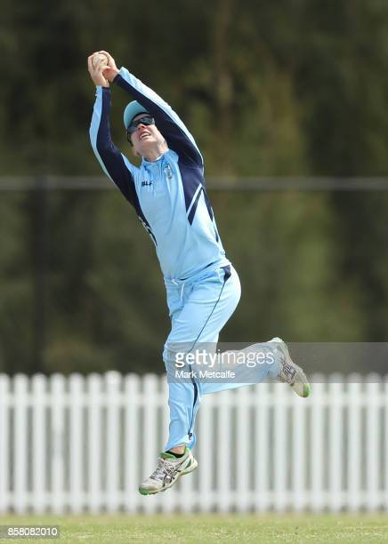 Rachael Haynes of NSW takes a catch to dismiss Courtney Hill of Queensland during the WNCL match between New South Wales and Queensland at Blacktown...