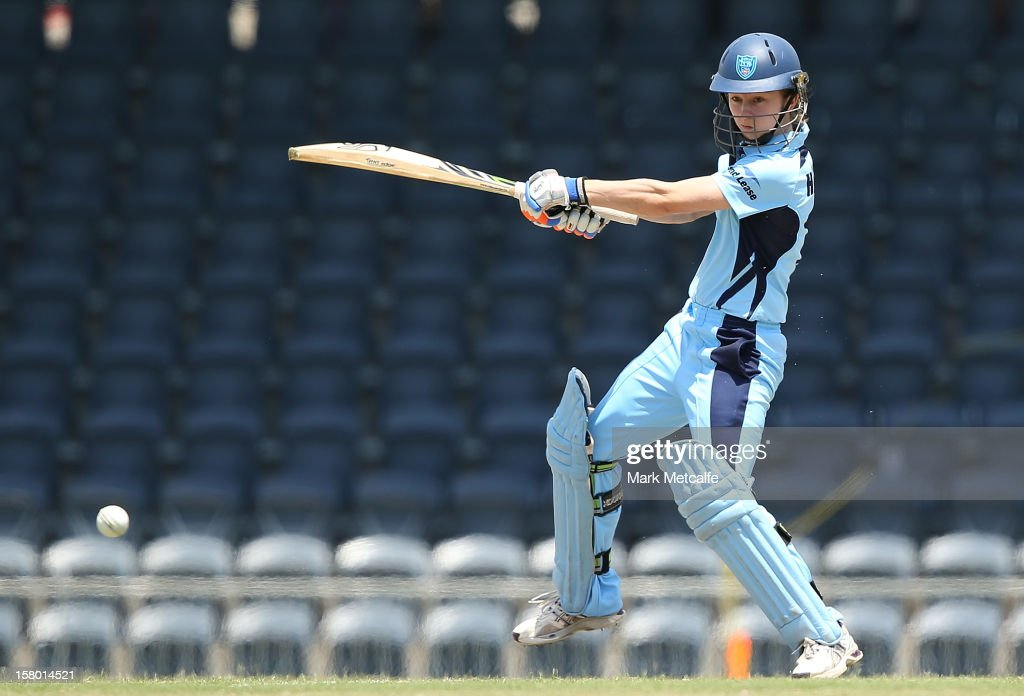 Rachael Haynes of the Breakers bats during the women's Twenty20 match between the New South Wales Breakers and the Tasmania Roar at Blacktown International Sportspark on December 9, 2012 in Sydney, Australia.