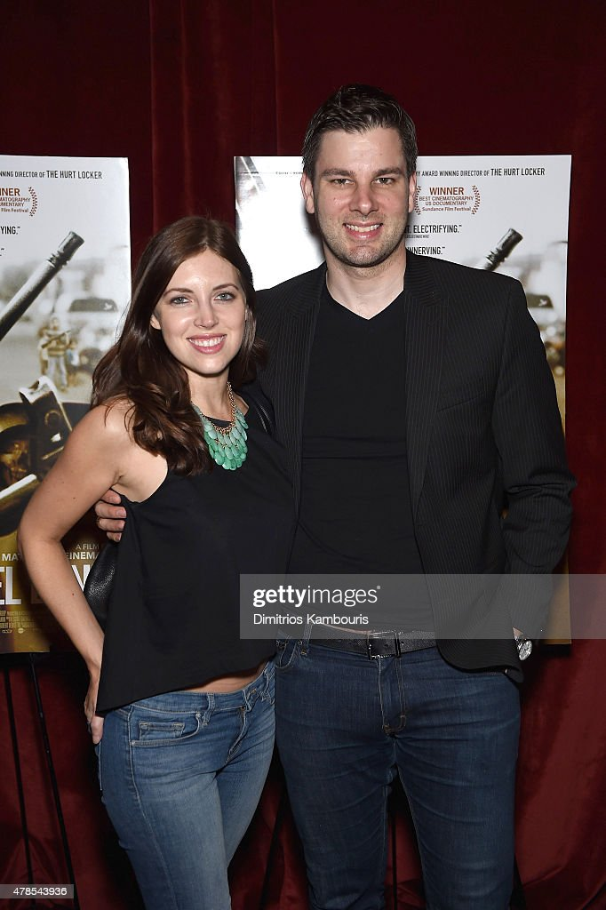 Rachael Kun Morehouse and Tim Morehouse attend Seth Meyers with the Orchard and the Cinema Society Host a Special Screening of 'Cartel Land' at Tribeca Grand Hotel on June 25, 2015 in New York City.