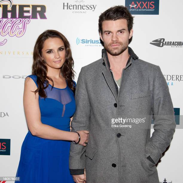 Rachael Leigh Cook and Daniel Gillies attend the Tenth Annual Leather Laces Super Bowl Party on February 2 2013 in New Orleans Louisiana
