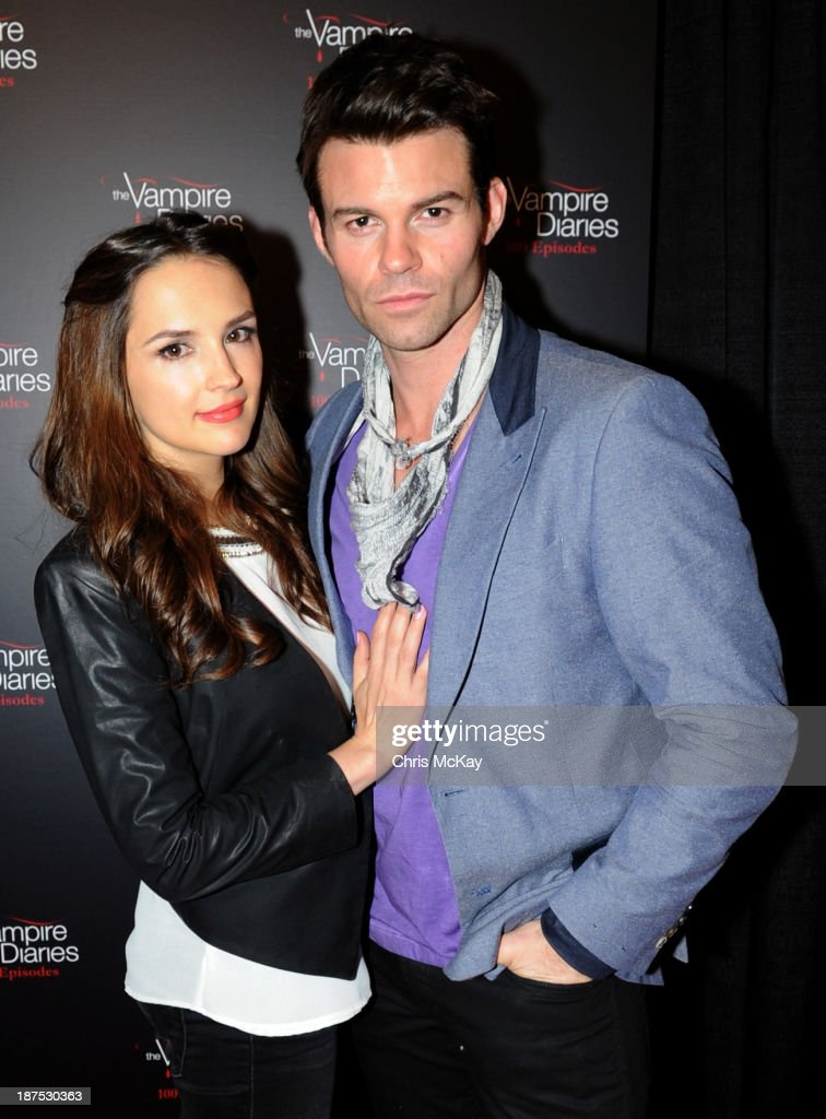 <a gi-track='captionPersonalityLinkClicked' href=/galleries/search?phrase=Rachael+Leigh+Cook&family=editorial&specificpeople=208121 ng-click='$event.stopPropagation()'>Rachael Leigh Cook</a> and <a gi-track='captionPersonalityLinkClicked' href=/galleries/search?phrase=Daniel+Gillies&family=editorial&specificpeople=675058 ng-click='$event.stopPropagation()'>Daniel Gillies</a> attend The Vampire Diaries 100th Episode Celebration on November 9, 2013 in Atlanta, Georgia.