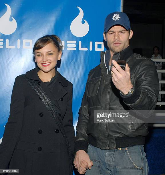 Rachael Leigh Cook and Daniel Gillies during Helio Drift Launch Party Arrivals at 400 South La Brea in Los Angeles CA United States