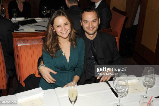 Rachael Leigh Cook and Jeff Vespa attend MOET CHANDON and 10 CANE RUM Private Dinner for THE CREATIVE COALITION at Teatro Goldoni Restaurant on...