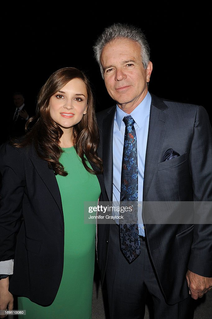 Rachael Leigh Cook and Tony Denison attend the 2013 TNT/TBS Upfront presentation at Hammerstein Ballroom on May 15, 2013 in New York City.