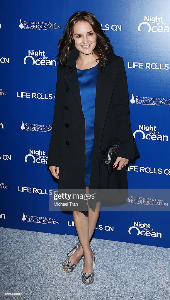 Rachael Leigh Cook arrives at The Life Rolls On Foundation's 9th Annual Night By The Ocean held at The Ritz-Carlton on November 10, 2012 in Marina del Rey, California.