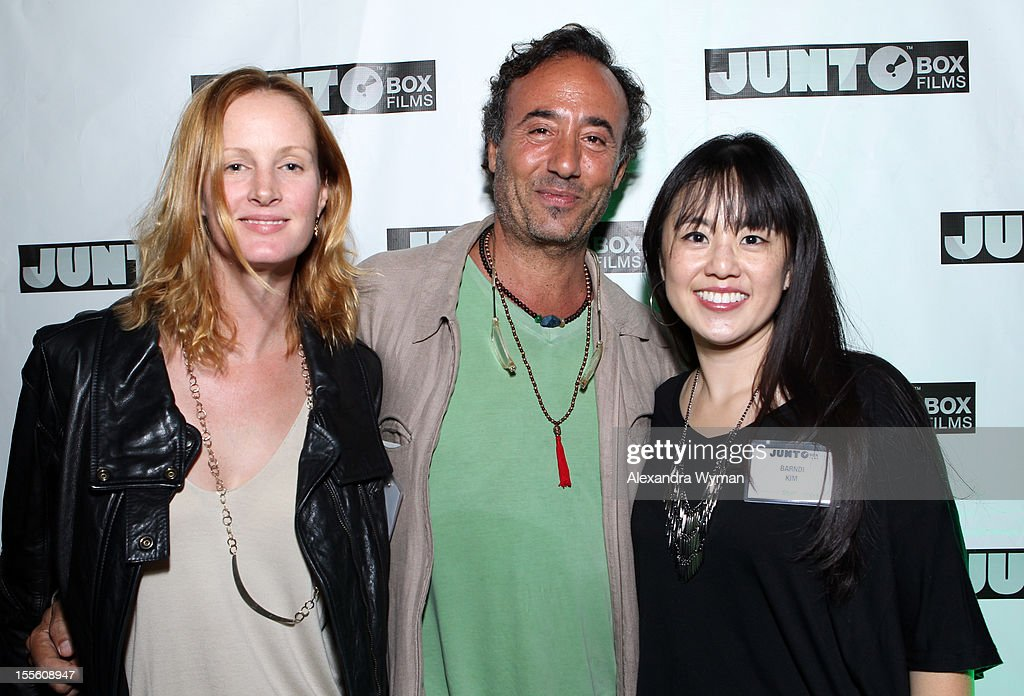 Rachael McLean, SVP of Digital at JuntoBox Films, Philippe Caland, Filmmaker & Founder of JuntoBox Films, and Barndi Kim, Director of Social Media at JuntoBox Films, attend JuntoBox Films Greenlight Party during American Film Market - Day 6 on November 5, 2012 in Santa Monica, California.