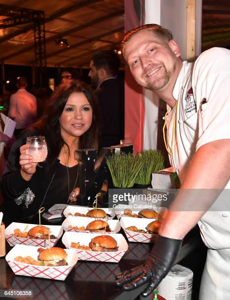Rachael Ray and competing chef attend Heineken Light Burger Bash Presented by Schweid Sons Hosted by Rachael Ray on February 24 2017 in Miami Beach...