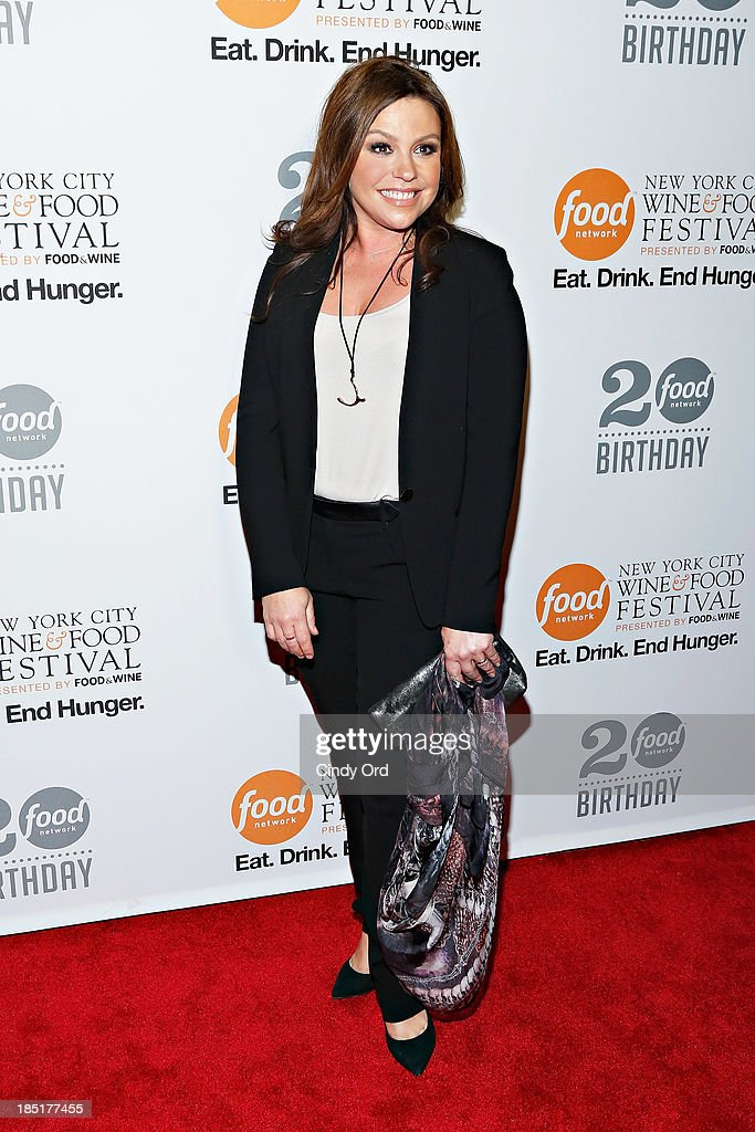 <a gi-track='captionPersonalityLinkClicked' href=/galleries/search?phrase=Rachael+Ray&family=editorial&specificpeople=542712 ng-click='$event.stopPropagation()'>Rachael Ray</a> attends Food Networks 20th birthday celebration at Pier 92 on October 17, 2013 in New York City.