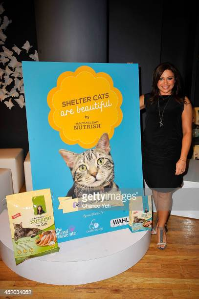 Rachael Ray attends Rachael Ray gives shelter cats makeovers to help launch the 'Shelter Cats Are Beautiful' campaign at Global Visual Group Studio...