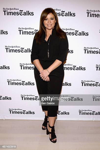Rachael Ray attends TimesTalk Tom Colicchio Rachael Ray during the Food Network New York City Wine Food Festival Presented By FOOD WINE at The Times...