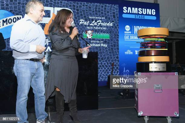 Rachael Ray with her Burger Bash Thank You Award on display at the Food Network Cooking Channel New York City Wine Food Festival Presented By...