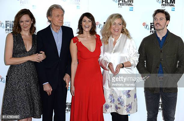 Rachael Stirling Bill Nighy Gemma Arterton Director Lone Scherfig and Sam Claflin attend 'Their Finest' photocall during the 60th BFI London Film...