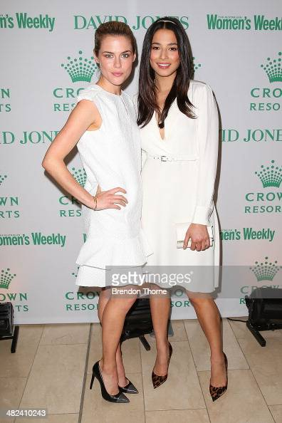 Rachael Taylor and Jessica Gomes arrive at the David Jones and Crown Resorts Autumn Racing Ladies Lunch at David Jones on April 4 2014 in Sydney...
