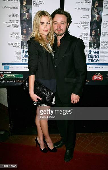 Rachael Taylor and Matthew Newton arrive for the premiere screening of 'Three Blind Mice' at the Chauvel Cinema on September 4 2009 in Sydney...