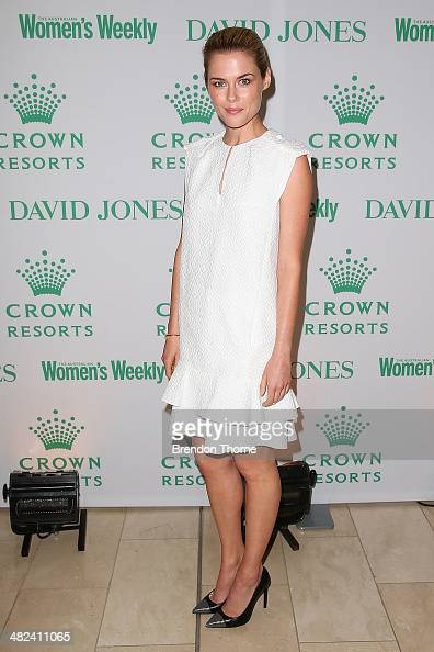 Rachael Taylor arrives at the David Jones and Crown Resorts Autumn Racing Ladies Lunch at David Jones on April 4 2014 in Sydney Australia