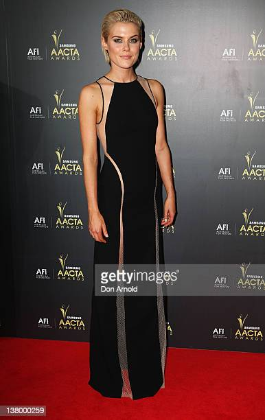 Rachael Taylor arrives for the 2012 AACTA Awards at Sydney Opera House on January 31 2012 in Sydney Australia