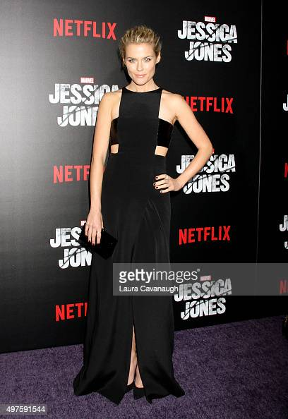 Rachael Taylor attends the 'Jessica Jones' series premiere at Regal EWalk on November 17 2015 in New York City