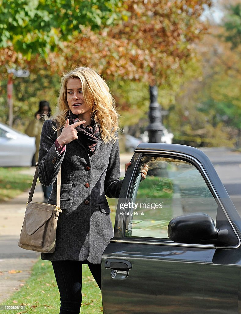 Rachael Taylor filming on location for '666 Park Avenue' on November 6, 2012 in the Brooklyn borough of New York City.