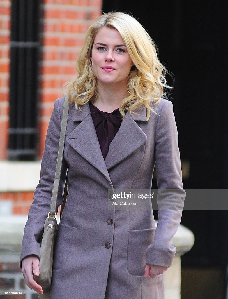 Rachael Taylor is seen on the set of '666 Park Avenue' on the Streets of Manhattan on December 6, 2012 in New York City.