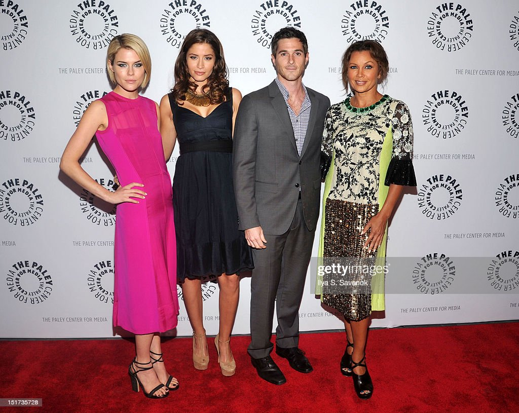 Rachael Taylor Mercedes Masohn Dave Annable and Vanessa Williams attend The Paley Center For Media Presents ABC's '666 Park Avenue' on September 10...
