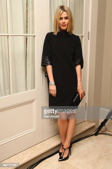 Rachael Taylor poses at the 130th Anniversary of Bvlgari Gala Dinner at a private residence in Darling Point on April 10 2014 in Sydney Australia