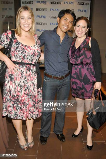 Rachel Abramson Matt Paco and Rebecca Beanstalk attend Launch and Celebration of Farmhearts at Pure Yoga on September 23 2010 in New York City